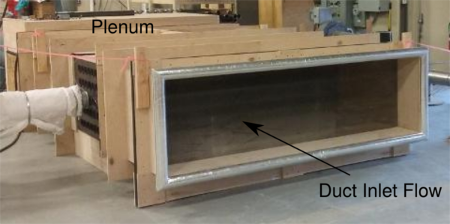 Heat Transfer Test Lab duct view