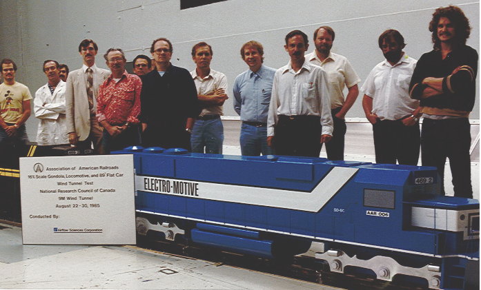 1985 Railroad Scale Model Wind Tunnel Test