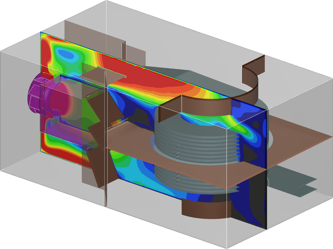 cfd of spiral cooker