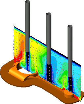CFD Velocity Profile of Connecting Rods