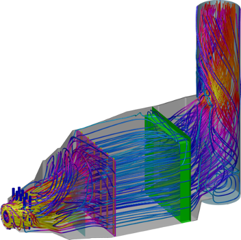 CFD Velocity Profile of simple cycle
