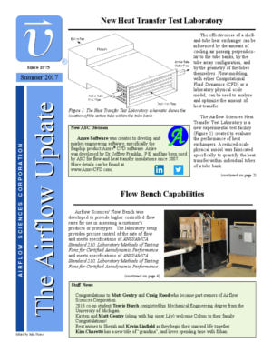 Airflow Sciences Newsletter